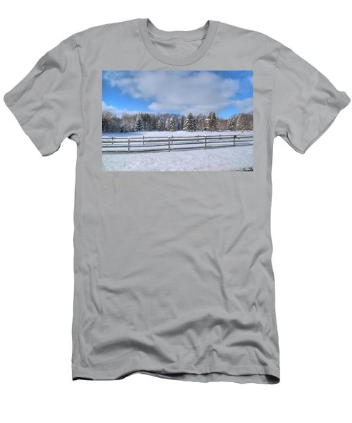 Men's T-Shirt (Slim Fit) featuring the photograph Winter Scenery 14589 by Guy Whiteley