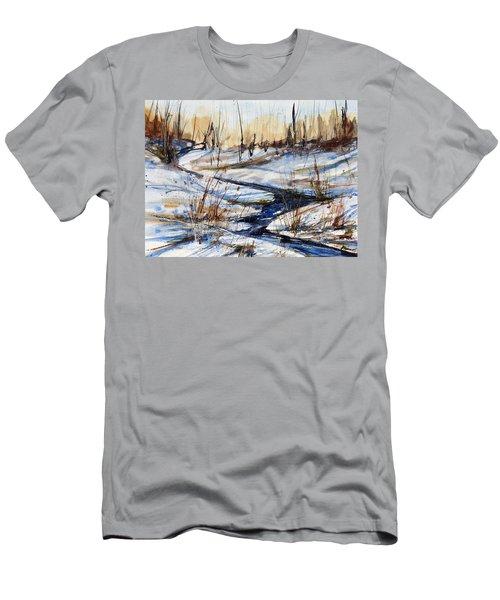 Winter Stream Men's T-Shirt (Slim Fit) by Judith Levins