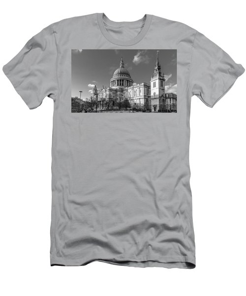 Winter Sun St Paul's Cathedral Bw Men's T-Shirt (Athletic Fit)
