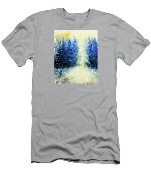 Winter Sunrise Men's T-Shirt (Slim Fit) by Rebecca Davis