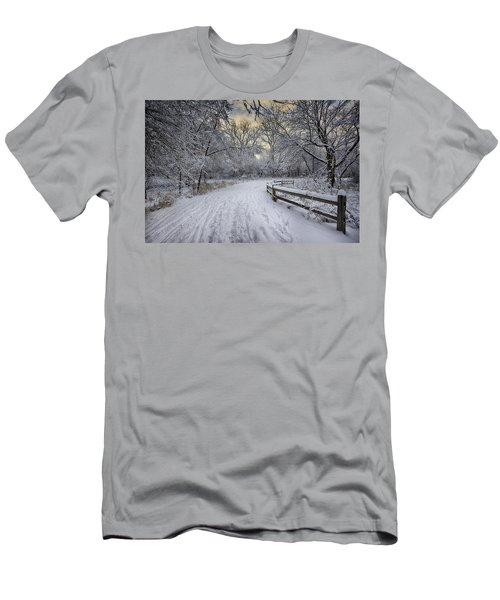 Men's T-Shirt (Athletic Fit) featuring the photograph Winter Sunrise by Sebastian Musial