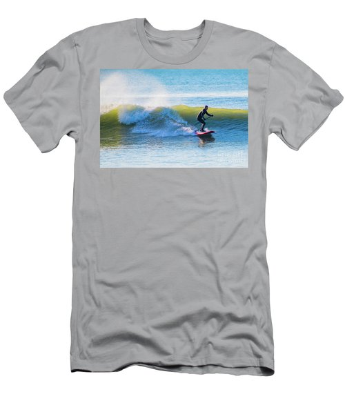 Winter Surfing In Aberystwyth Men's T-Shirt (Athletic Fit)
