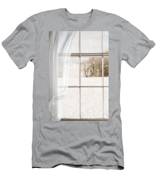 Winter Through A Window Men's T-Shirt (Athletic Fit)