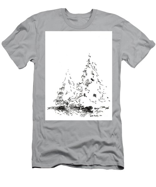 Winter Trees 1 - 2016 Men's T-Shirt (Athletic Fit)