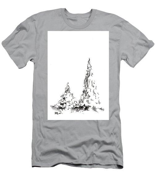 Winter Trees 2 - 2016 Men's T-Shirt (Athletic Fit)