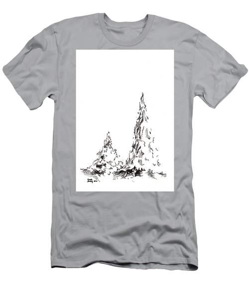 Winter Trees 2 - 2016 Men's T-Shirt (Athletic Fit)