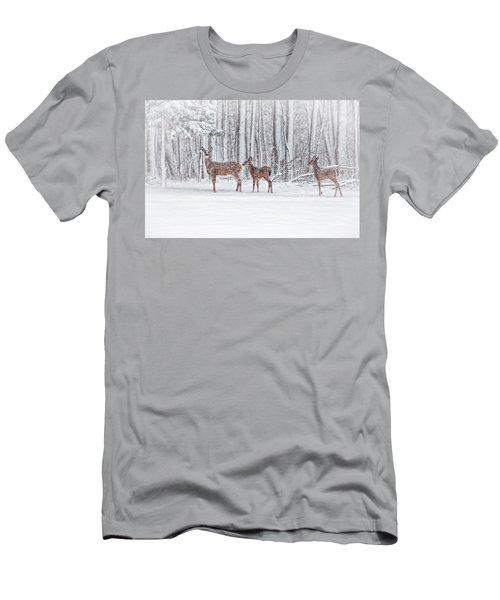 Winter Visits Men's T-Shirt (Slim Fit) by Karol Livote