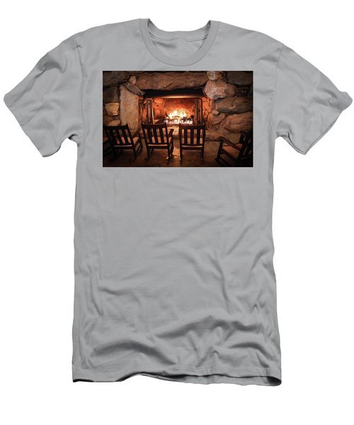 Men's T-Shirt (Slim Fit) featuring the photograph Winter Warmth by Karen Wiles