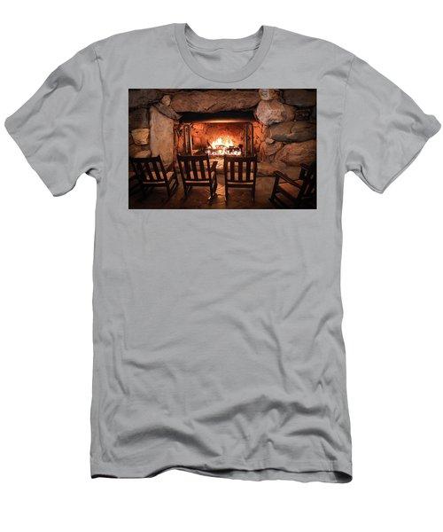 Winter Warmth Men's T-Shirt (Slim Fit) by Karen Wiles
