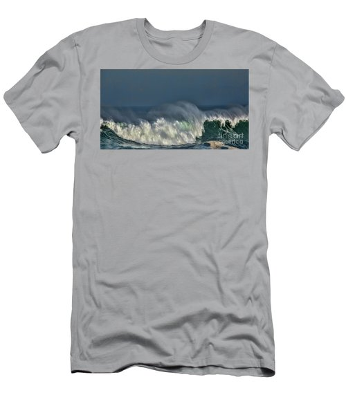 Winter Waves And Veil Men's T-Shirt (Slim Fit) by Shirley Mangini
