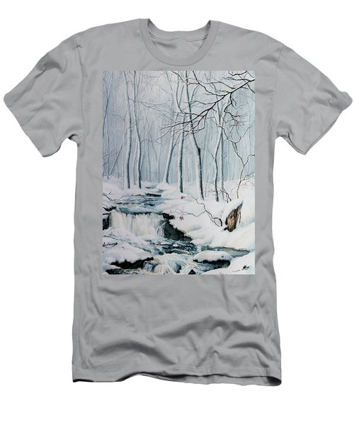 Men's T-Shirt (Athletic Fit) featuring the painting Winter Whispers by Hanne Lore Koehler