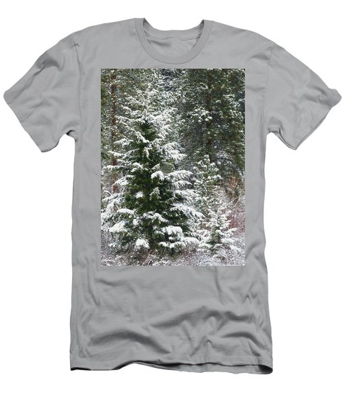 Men's T-Shirt (Slim Fit) featuring the photograph Winter Woodland by Will Borden