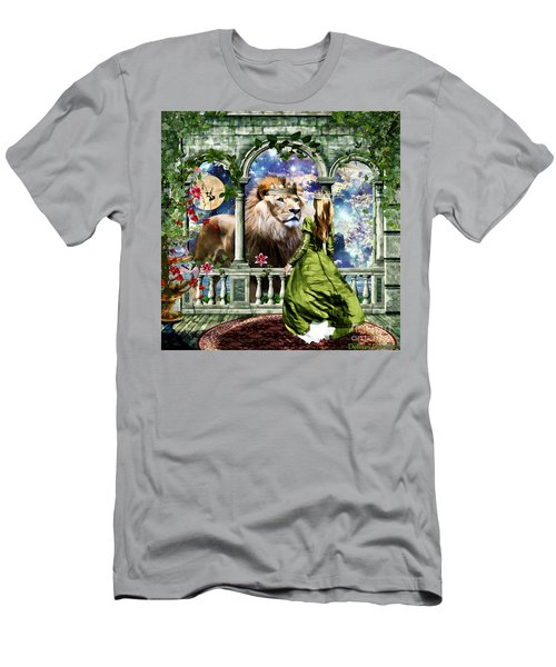 Men's T-Shirt (Slim Fit) featuring the digital art With Him I Speak Face To Face by Dolores Develde
