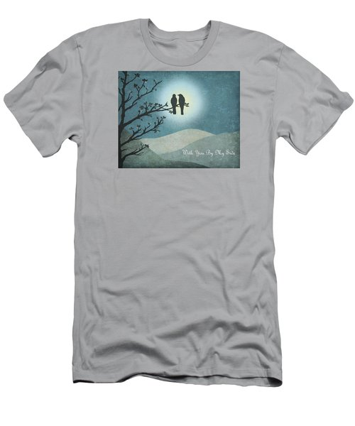 Men's T-Shirt (Slim Fit) featuring the digital art With You By My Side Landscape View by Christina Lihani
