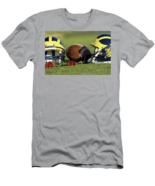 Wolverine Helmets And Roses Men's T-Shirt (Athletic Fit)