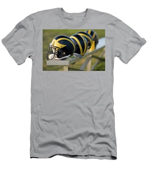 Wolverine Helmets On A Bench Men's T-Shirt (Athletic Fit)