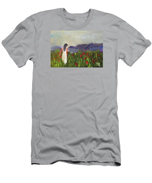 Woman In White Men's T-Shirt (Athletic Fit)