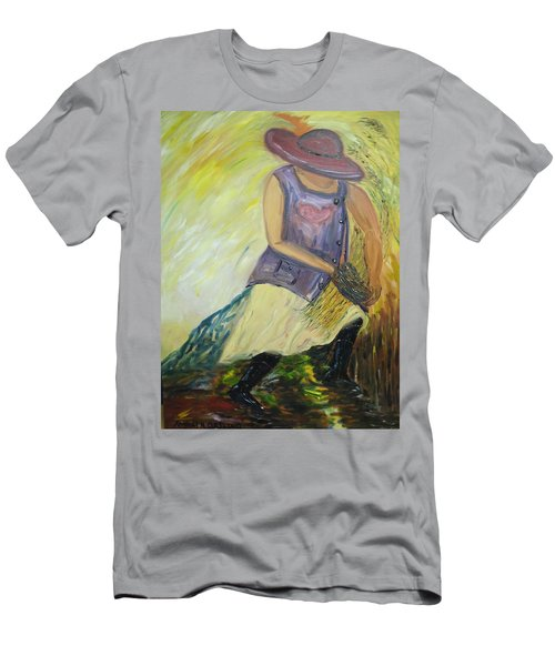 Woman Of Wheat Men's T-Shirt (Athletic Fit)