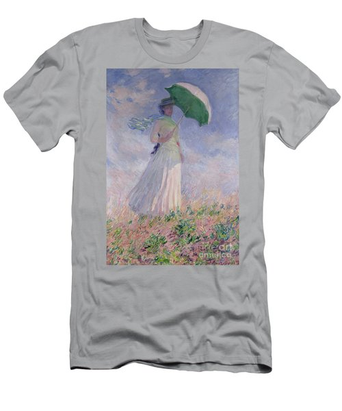 Woman With A Parasol Turned To The Right Men's T-Shirt (Athletic Fit)