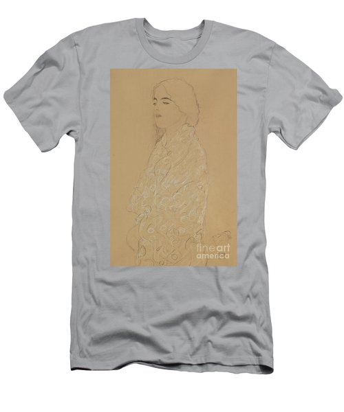 Woman With A White Shawl  Men's T-Shirt (Athletic Fit)
