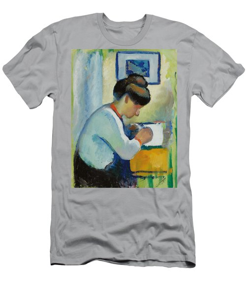 Woman Writing Men's T-Shirt (Athletic Fit)
