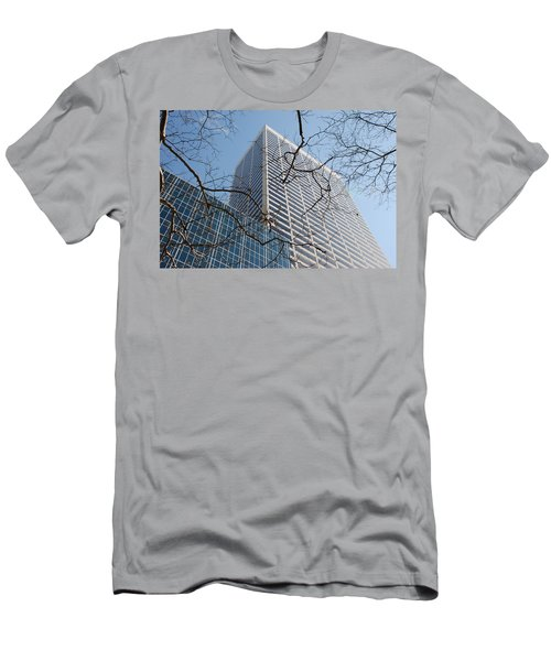 Men's T-Shirt (Slim Fit) featuring the photograph Wood And Glass by Rob Hans