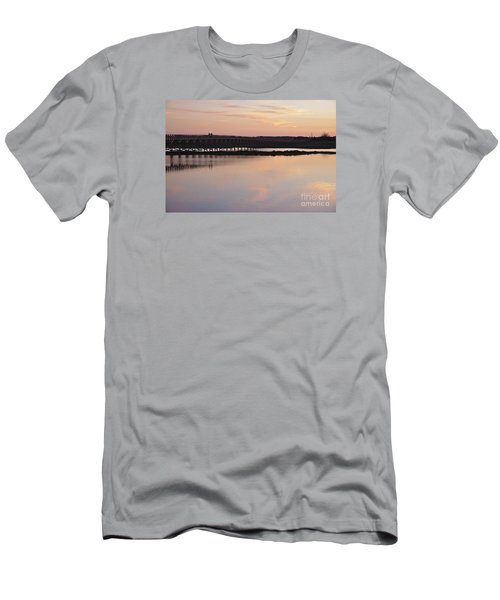 Wooden Bridge And Twilight Men's T-Shirt (Athletic Fit)