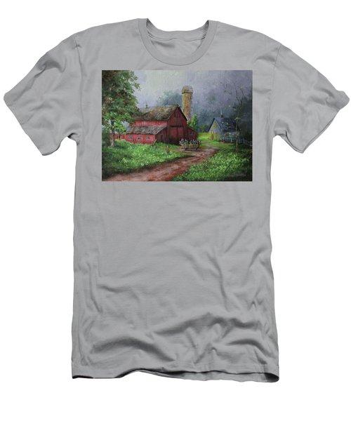 Wooden Cart Men's T-Shirt (Athletic Fit)