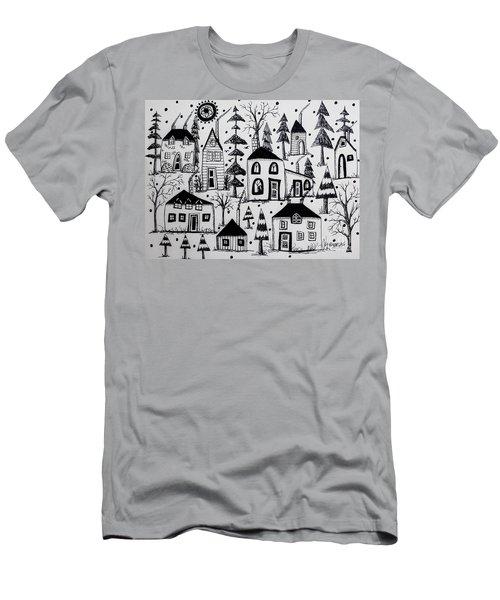 Woodsy Village Men's T-Shirt (Athletic Fit)