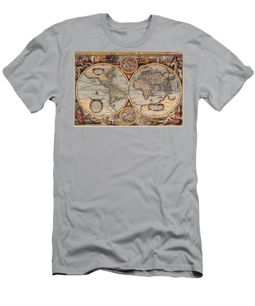 World Map 1636 Men's T-Shirt (Athletic Fit)
