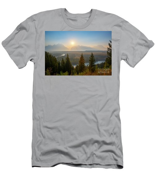 Wyoming Sunset At Snake River Men's T-Shirt (Athletic Fit)