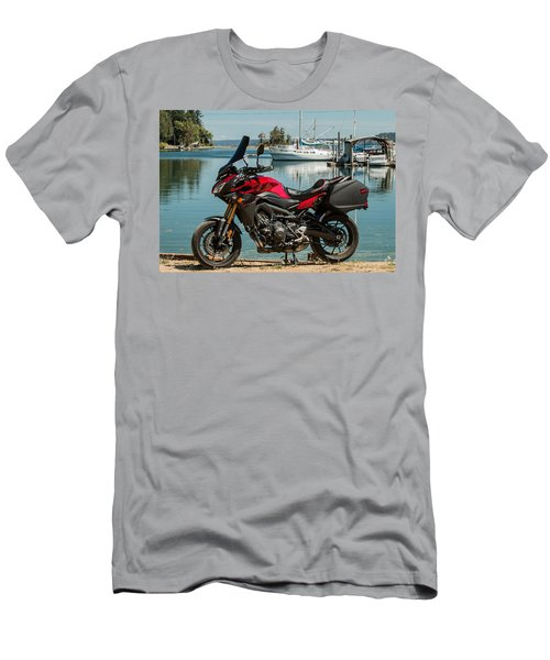 Men's T-Shirt (Slim Fit) featuring the photograph Yamaha Fj-09 .3 by E Faithe Lester