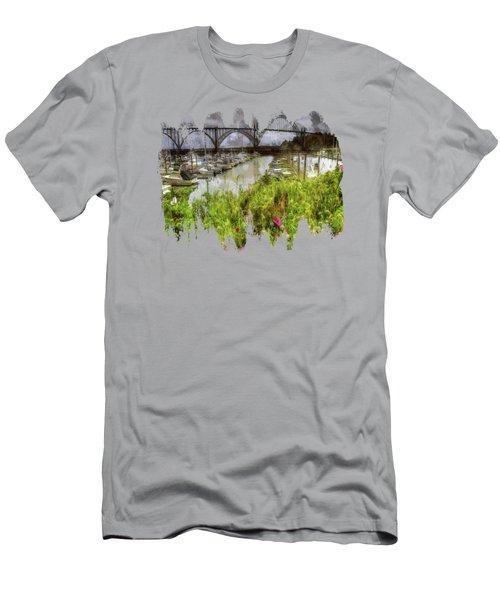Yaquina Bay Roses Men's T-Shirt (Athletic Fit)