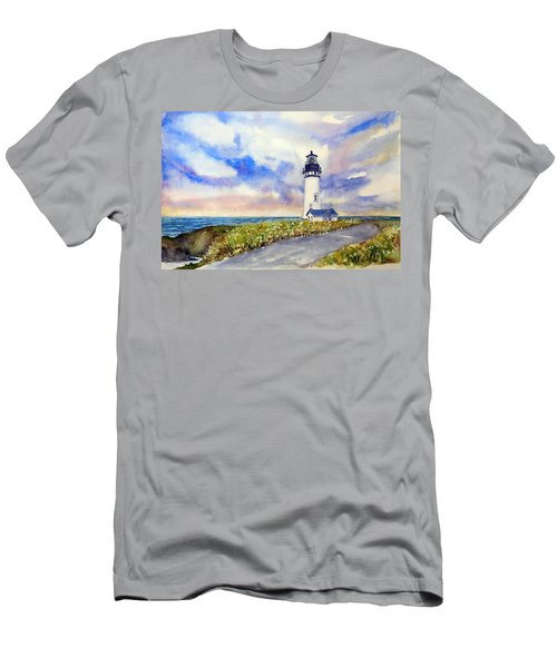Yaquina Head Lighthouse - Springtime Men's T-Shirt (Athletic Fit)