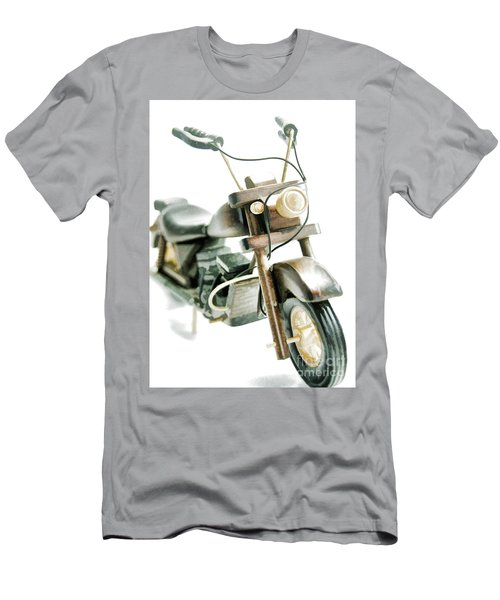 Yard Sale Wooden Toy Motorcycle Men's T-Shirt (Slim Fit) by Wilma Birdwell