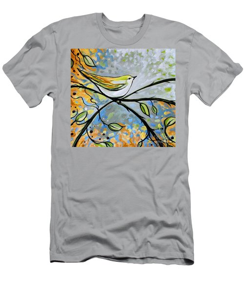 Yellow Bird Among Sage Twigs Men's T-Shirt (Athletic Fit)