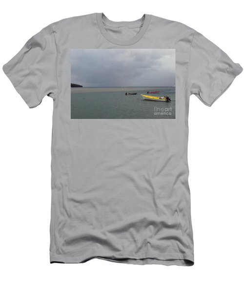Men's T-Shirt (Athletic Fit) featuring the photograph Yellow Boat by Gary Wonning