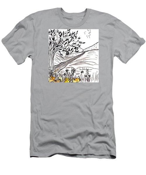 Yellow Cats Men's T-Shirt (Slim Fit)