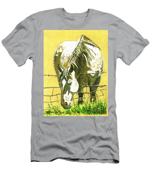 Yellow Horse Men's T-Shirt (Athletic Fit)