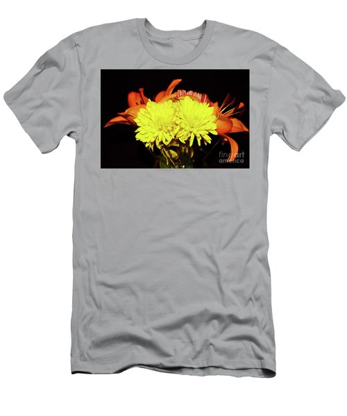 Yellow Mums And Orange Lilies  Men's T-Shirt (Athletic Fit)