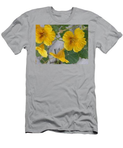 Yellow Nasturtium Men's T-Shirt (Athletic Fit)