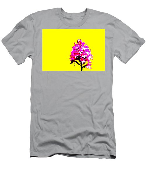 Yellow Pyramid Orchid Men's T-Shirt (Athletic Fit)