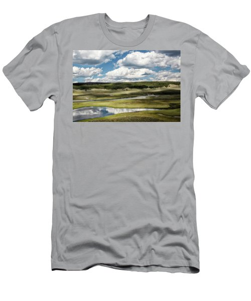 Men's T-Shirt (Athletic Fit) featuring the photograph Yellowstone Hayden Valley National Park Wall Decor by Gigi Ebert