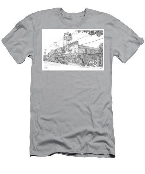 Men's T-Shirt (Slim Fit) featuring the drawing Yesterday Today by Doug Kreuger