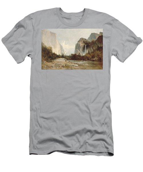 Yosemite Bridal Veil Falls Men's T-Shirt (Athletic Fit)