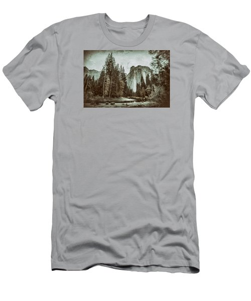 Yosemite National Park Men's T-Shirt (Slim Fit) by James Bethanis