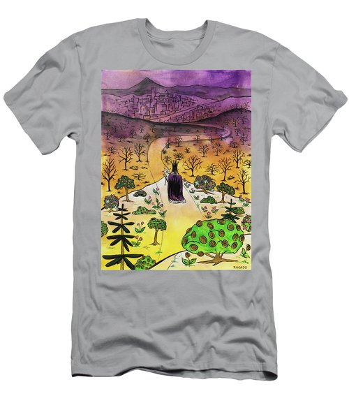 Men's T-Shirt (Athletic Fit) featuring the painting You Are The Message by Nathan Rhoads
