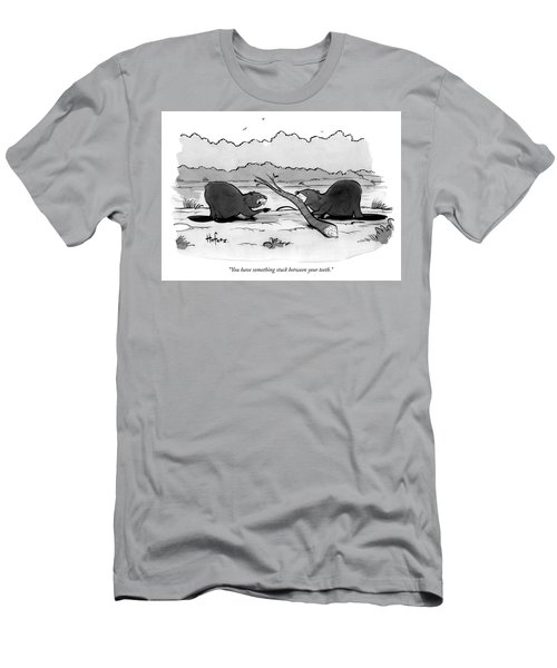 You Have Something Stuck Between Your Teeth Men's T-Shirt (Athletic Fit)