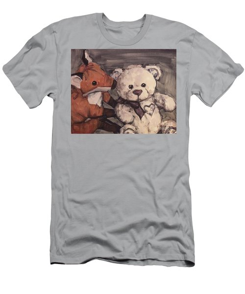 Men's T-Shirt (Slim Fit) featuring the painting You Should Not Trust Her by Olimpia - Hinamatsuri Barbu