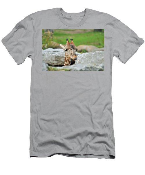 Cute Young Giraffe  Men's T-Shirt (Athletic Fit)